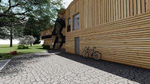 Innenhof mit Zugang WEs